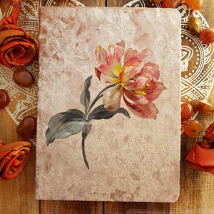 Pink Peony Crushed Velvet Journal