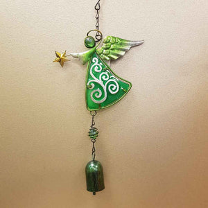 Green Angel Bell Wind Chime