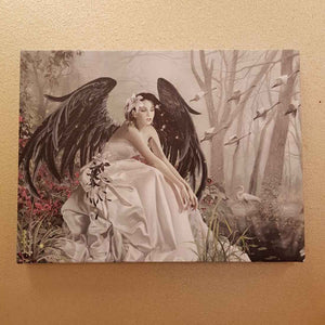 Swan Song Canvas by Nene Thomas