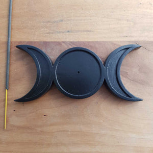 Triple Moon Incense Holder