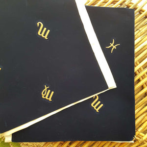 Astrology Velvet Tarot Cloth. (approx 80x80cm)