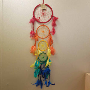 Colourful 5 Hoop Dream Catcher
