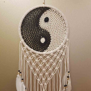 Yin Yang Macrame Dream Catcher