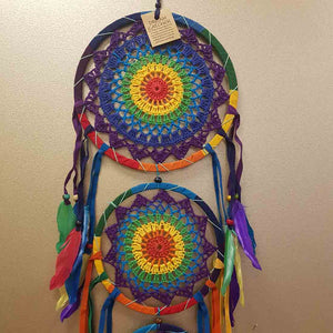 Colourful Crochet 3 Hoop Dream Catcher