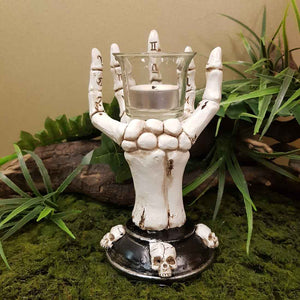 Cream Skeleton Hand Incense Holder