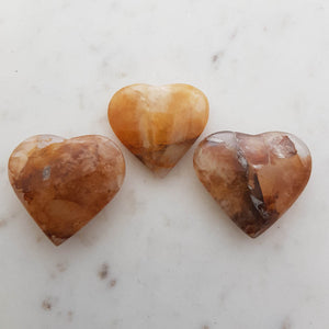Golden Quartz Heart