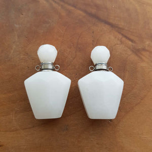 White Jade Keepsake Bottle Pendant