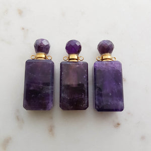 Amethyst Keepsake Bottle Pendant