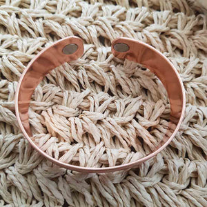 Antique Finish Copper Bracelet  with Magnets