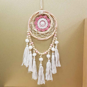 Pink Gypsy Round Dream Catcher