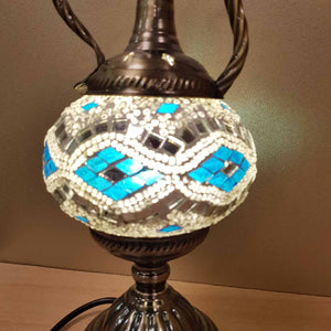 Blue and White Coffee Pot Turkish Style Mosaic Lamp