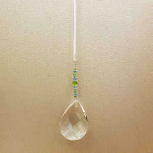 Aurora Sundrop Hanging Prism on Ribbon (assorted 40cm)