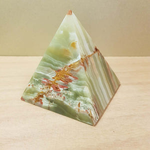 Banded Calcite aka Marble Onyx Pyramid