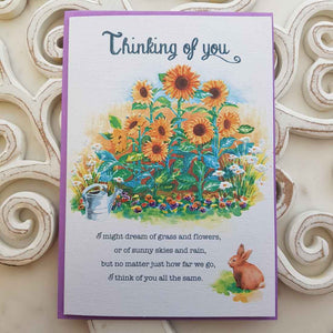Thinking Of You I Might Dream Of Grass And Flowers Card