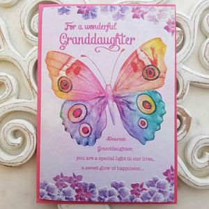 For A Wonderful Granddaughter Dearest Granddaughter You Are A special Light In Our Lives Card