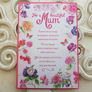 For A Beautiful Mum There Are So Many Wonderful, Treasured Memories We Share Card