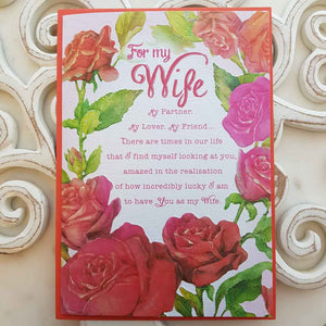 For my Wife My Partner My Lover, My Friend... Card
