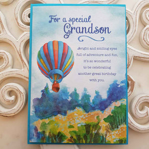 For A Special Grandson Bright And Smilng Eyes Card