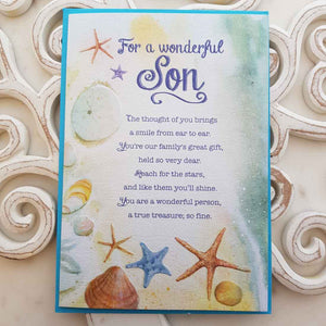 For A Wonderful Son The Thought Of You Brings A Smile From Ear To Ear Card