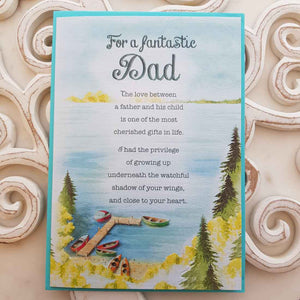 For A Fantastic Dad The Love Between A Father And His Child Card
