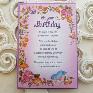 On Your Birthday Today Is A Day Like No Other In The Year Card