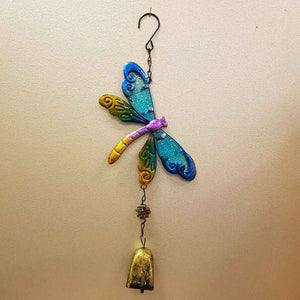 Blue Dragonfly Bell Wind Chime
