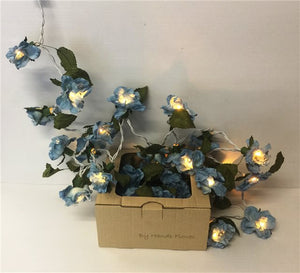 Blue Flower Fairy Lights (approx. 3m)