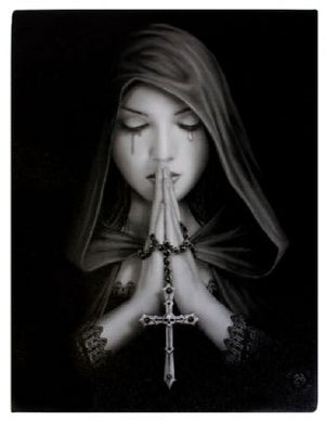 Gothic Prayer Canvas by Anne Stokes (approx 50x70cm)