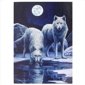 Winter Warrior Wolf Canvas by Lisa Parker (approx. 50x70cm)