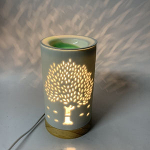 Tree of Life Electric Oil Burner. (approx. 19x10cm)