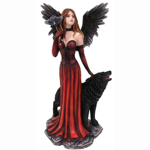 Red Angel & Her Wolf (approx. 31x15.5x16cm)