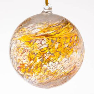 Pastel Gold Hand Crafted Friendship Ball (glass. approx. 15cm)