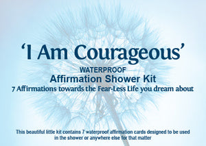 I Am Courageous Affirmation Shower Kit