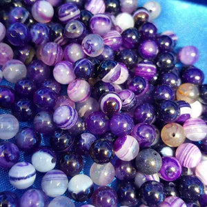 Agate Bead. (assorted & dyed approx. 6mm)
