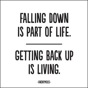 Falling Down Is Part of Life Fridge Magnet
