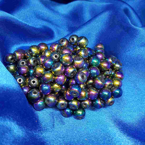 Electroplated Magnetic Hematite Bead (8mm)