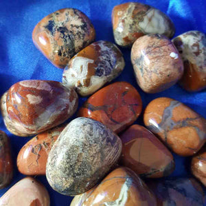red silverleaf jasper tumble