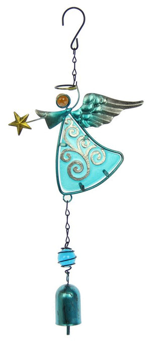 Blue Angel Bell Wind Chime (approx. 40x16.5x3cm)