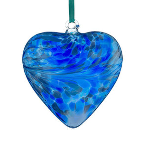 Shades of Blue Hand Crafted Friendship Heart (glass. approx. 12cm)