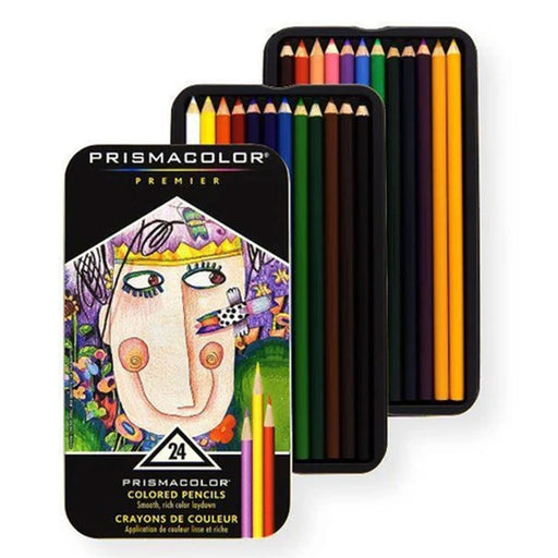 Prismacolor Pencils 24ct Set Soft Core - Bloody Wolf Tattoo Supply
