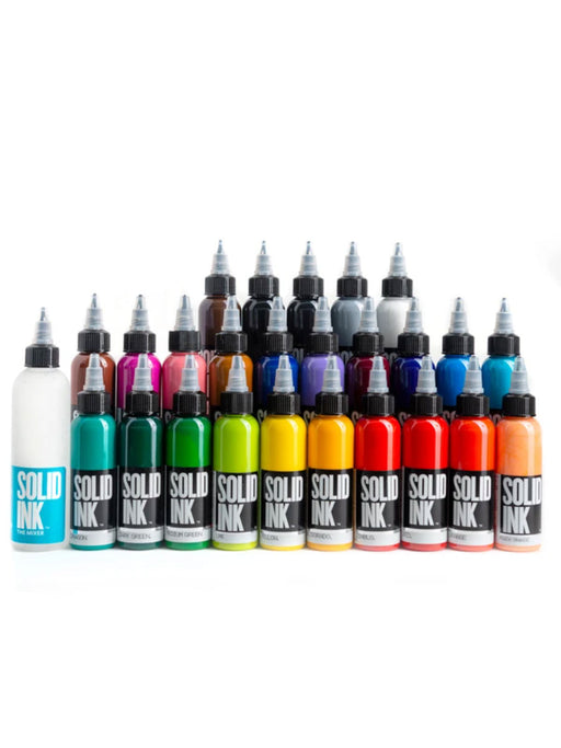 Solid Ink 25 Colors 1oz Set - Bloody Wolf Tattoo Supply