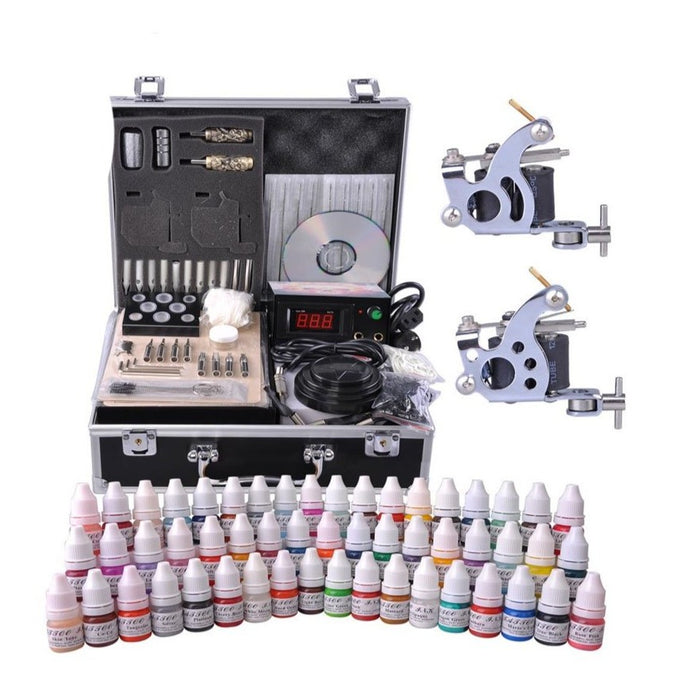 Tattoo Kit 1 Liner 1 Shader Coil Machine Complete Startup- Bloody Wolf Tattoo Supply