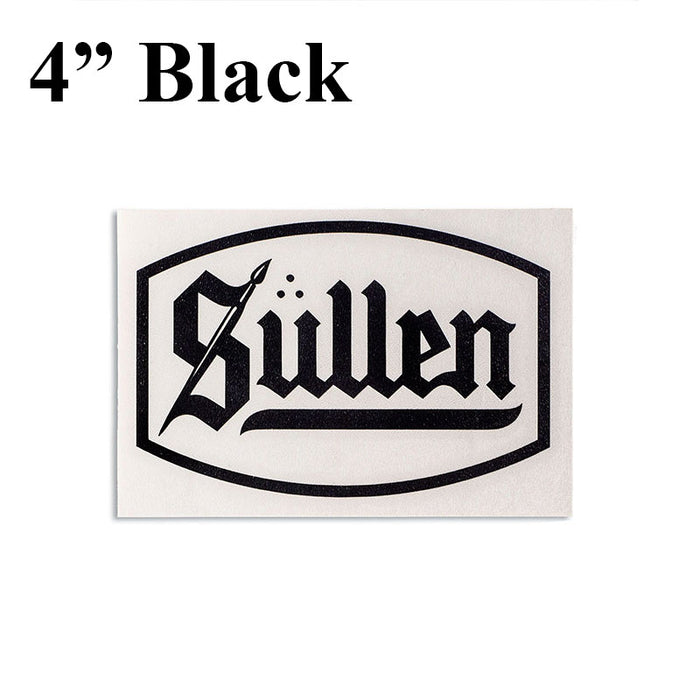 Sticker - Sullen Blaq Letter Logo - Bloody Wolf Tattoo Supply