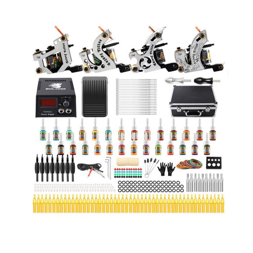 Tattoo Kit 2 Liner 2 Shader Coil Machine Complete Set - Bloody Wolf Tattoo Supply