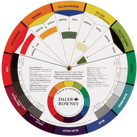 Color Wheel Mixing Guide