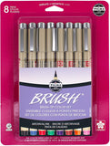 Pigma 8 Piece Brush Pen Set