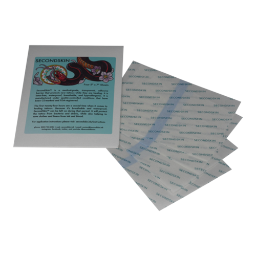"Second Skin Personal Pack 5"" x 7"" Sheets x4 - Bloody Wolf Tattoo Supply"