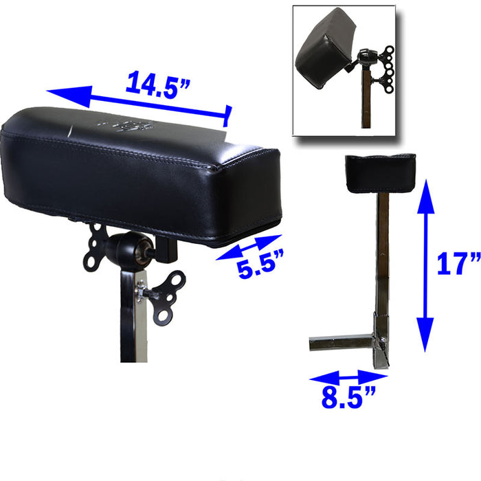 InkBed Arm Rest Expansion Kit for Hydraulic Client Chair - Bloody Wolf Tattoo Supply