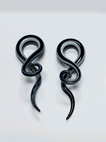 Stripe Tangled 00g Glass Plugs