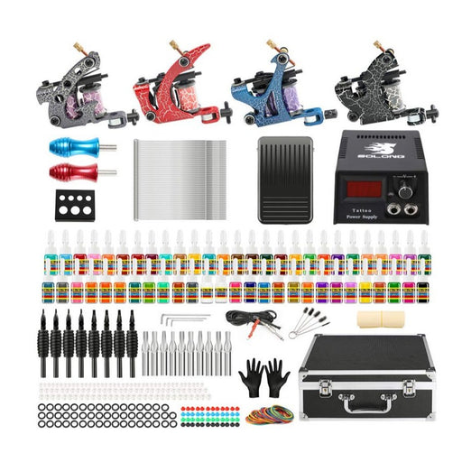 Tattoo Kit 2 Liner 2 Shader Coil Machines Complete Startup - Bloody Wolf Tattoo Supply